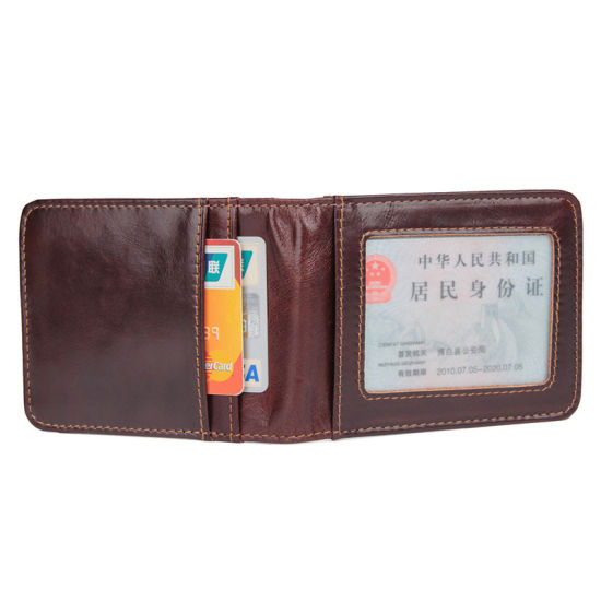 Guangzhou Factory Cheap Price Good Quality Genuine Leather RFID Credit Cards Wallet Money Clip pictures & photos