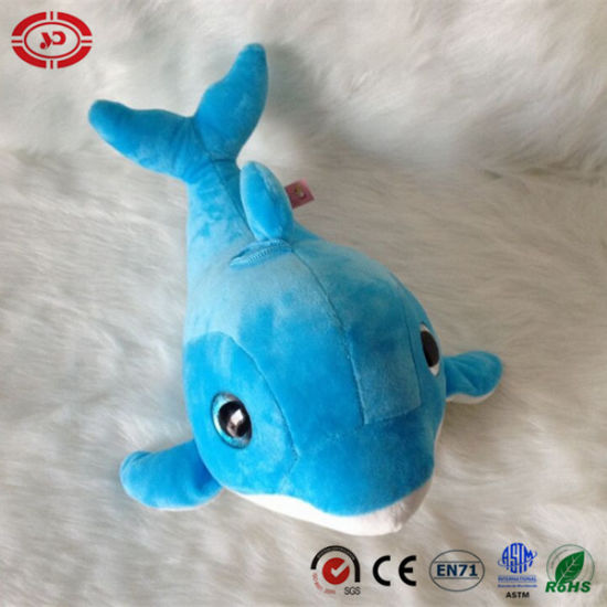 China Blue Dolphin Big Blue Nice Eyes Plush Soft Kids Toy China