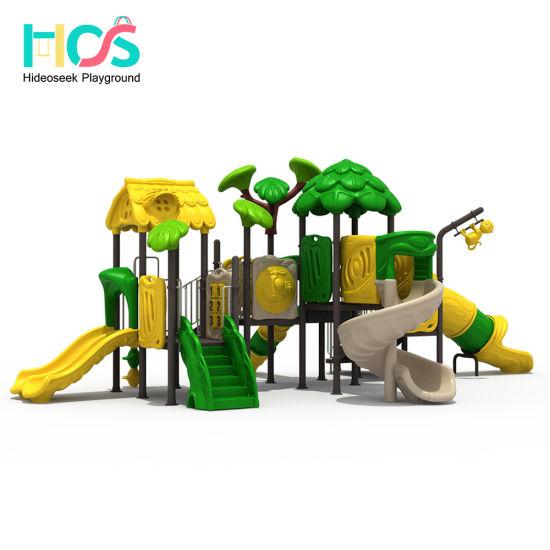 2018 Forest Theme Plastic Children Outdoor Playground Equipment For Park  (HS806601)