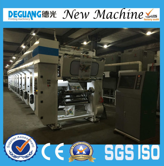 Air Energy Heating 8colors 260m/Min Electrical Line Shaft Rotogravure Printing Machine pictures & photos