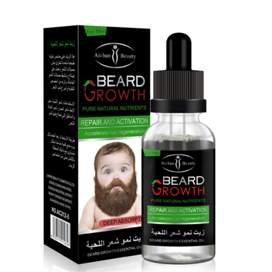 Private Label 100% Natural Pure Beard Growth Oil Organic Natural Mens Beard Essential Oil