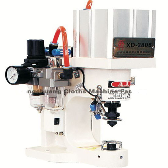 Pneumatic Automatic Cloth Sewing Servo Eyelets Snap Button Jeans Button Fixing Press Drilling Shoe Making Punch Machine