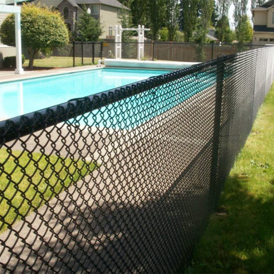 China Powder Coated Galvanized Chain Link Swimming Pool Security