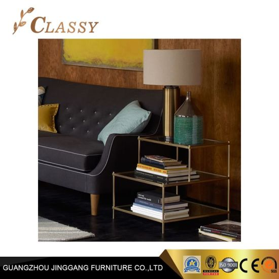 huge discount 73355 ba7e2 China Home Furniture Table Glass Side Table for Bedroom ...