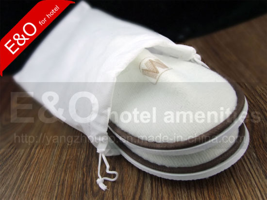 Cheap Simple Drawstring Non-Woven Hotel Slipper Shoe Bag