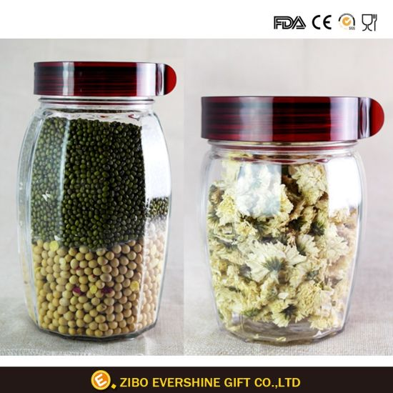 Glass Container Food Storage Glass Stash Glass Jar pictures & photos