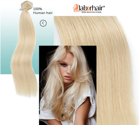 Clip in Human Hair Extension Best Quality #613 Remy Hair 100g/120g/160g Per Pack, Clips Lbh 120 pictures & photos