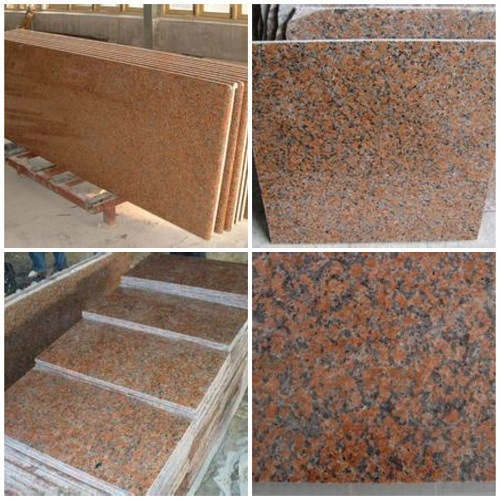 Polished G-562 Maple Red Granite Stone for Kitchen Countertop or Flooring
