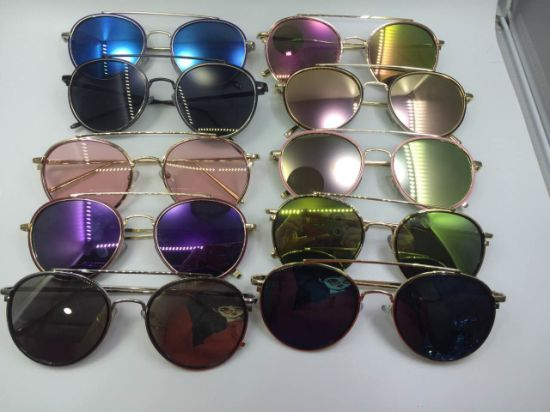 Promotion Wholesale Medal Sunglasses with Multi-Colors