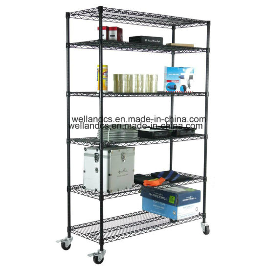 NSF Powder Coated Steel Garage Storage Wire Racking System pictures & photos