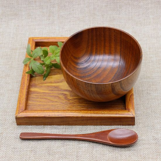 Wooden Tableware Wholesale Natural Wooden Bowls From Made in China pictures & photos