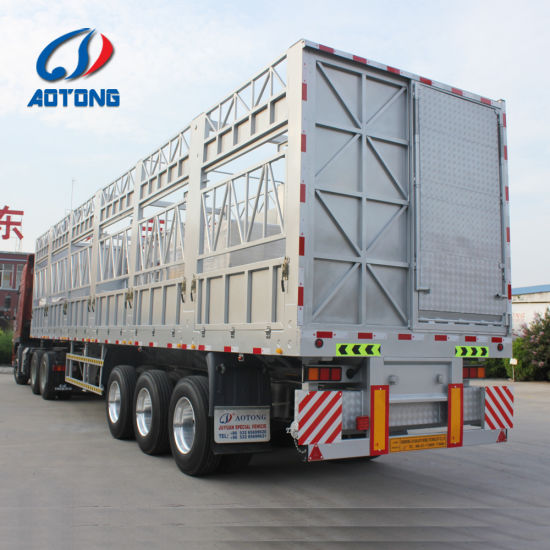 China Hot 50ton Utility Alloy Sheep and Cattle Transporting