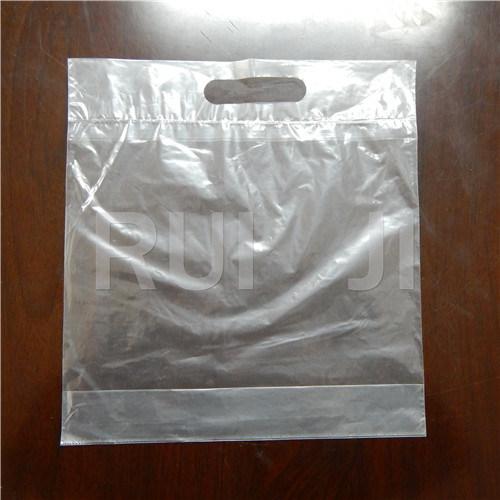 Automatic Plastic Die Cut Bag Making Machine