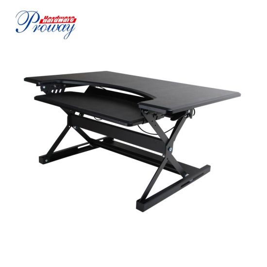 China Manufacturer High Quality Height Adjustable Standing Desk with Keybaord Tray