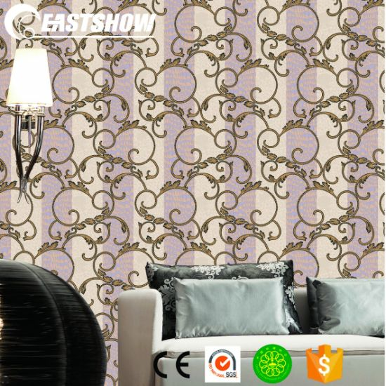 China Home Decoration Wallpaper For Living Room 500g Sqm 53cm 10m