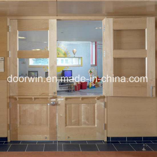 Fectory Price Exterior French Doors Double Entry Door With Wood Color For Pictures Photos
