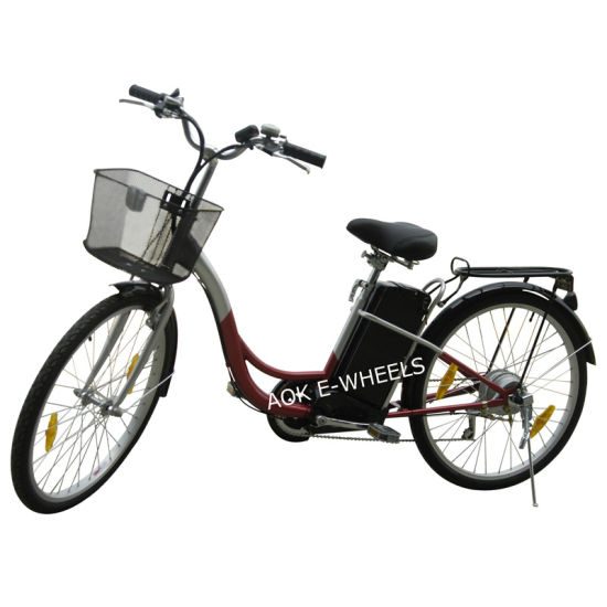 250W Brushless Motor City E-Bike with Basket (EB-071)
