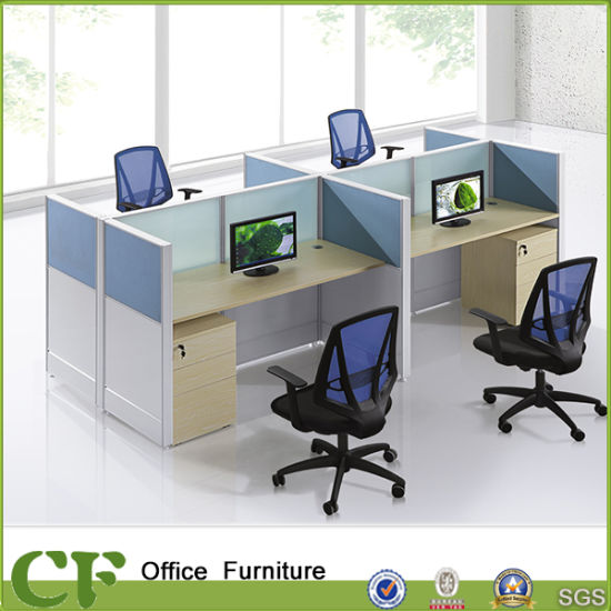 Cusstom Design 4 Seater Office Partition Workstation Divider pictures & photos