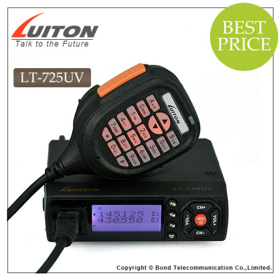 Ce Approved Mini Transceiver Lt-725UV Dual Band Mobile Radio