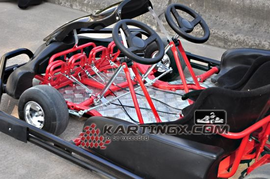 2 Seats Racking Go Kartings with Double Steering Wheels Driving Go Karts for Adults pictures & photos
