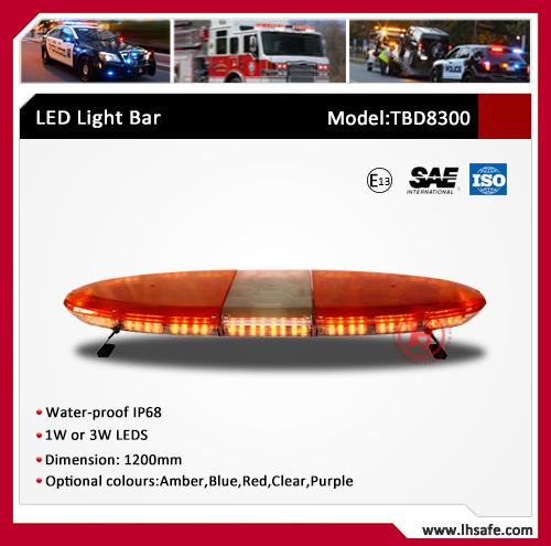 Oval PC Body LED Emergency Warning Light Bar (TBD8300) pictures & photos