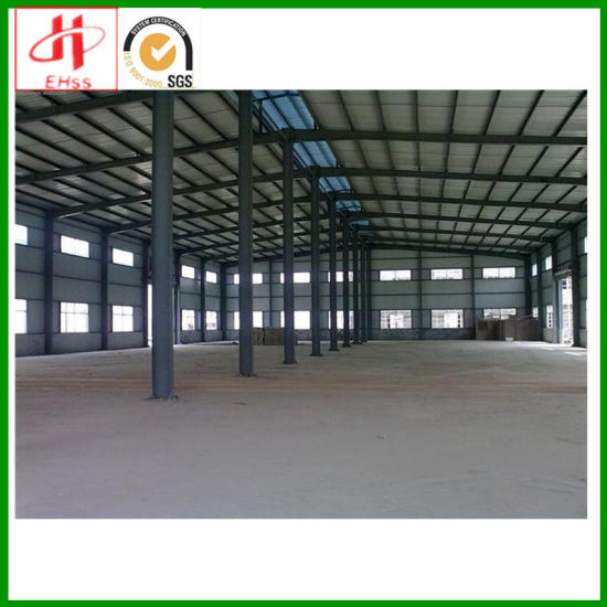 China Prefab Factory Building Structural Steel Frame Construction ...
