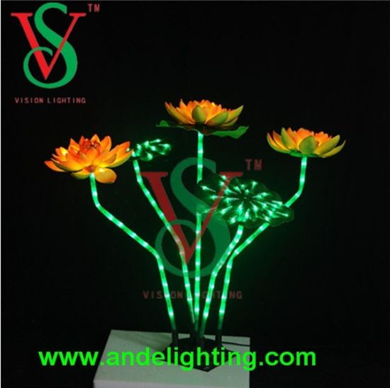 China Lotus Flower String Lights Lotus Flowe Light For Holiday