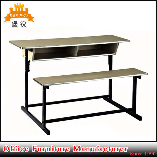 Commercial Cheap Price Wooden Double School Desk and Chair pictures & photos