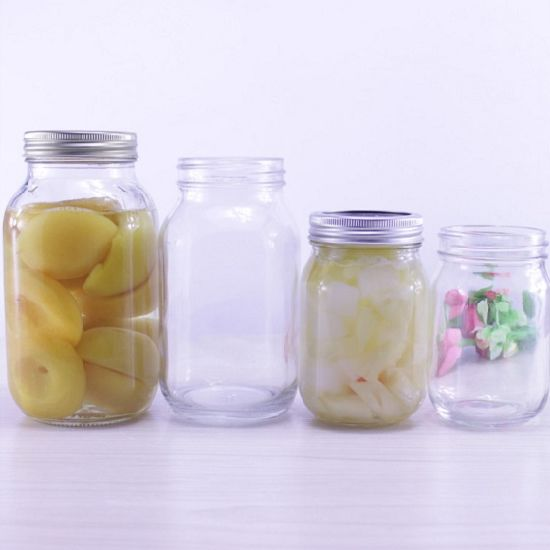 470ml Salad Storage Glass Jar with Vintage Design pictures & photos