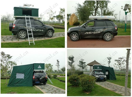 Camper Trailer 4WD Side Camping Canvas Car Roof Top Tent With Awning
