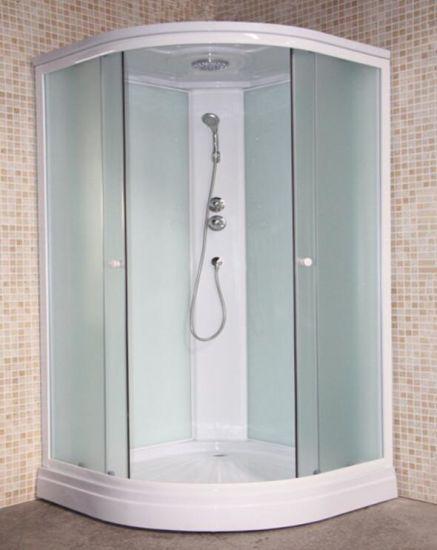 China Round Tempered Glass Bathroom Frame Glass Shower Cabin White ...