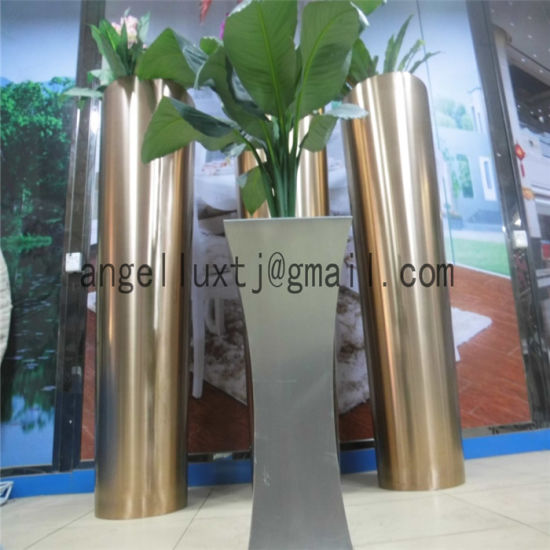 High Quality Custom Stainless Steel Flower Pot Brush Finish Floor Type pictures & photos
