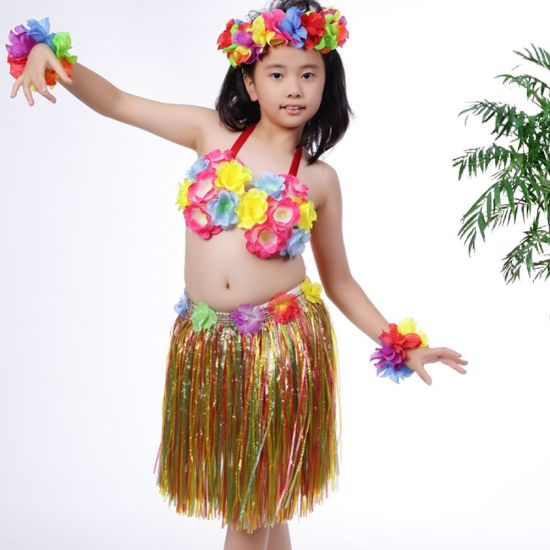 Kids Children Adults Colorful Flowered Hawaiian Costume Events Birthdays Celebrate Party Decoration Hula Grass Straw Skirt Dress  sc 1 st  Rebita Industry Co. Limited & China Kids Children Adults Colorful Flowered Hawaiian Costume Events ...