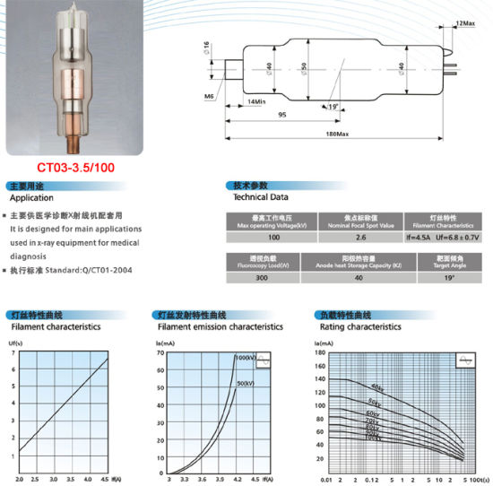 High-Quality Approved Medical Diagnosis X-ray Tube (CT-03) pictures & photos