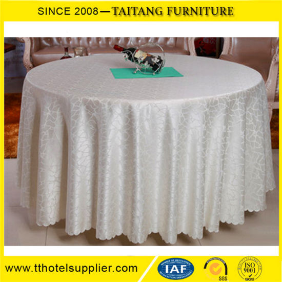 China White Table Cloth Table Clothes With Table Runner In Different