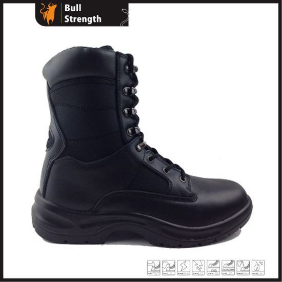 China Military Black Safety Boot With Steel Toe Cap Sn1552 China
