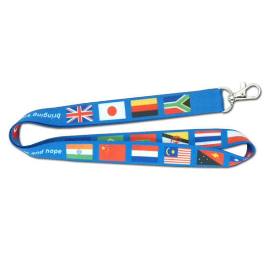 Hotsale New Fashion Design Colorful Polyester Neck Lanyards with Custom Logo pictures & photos