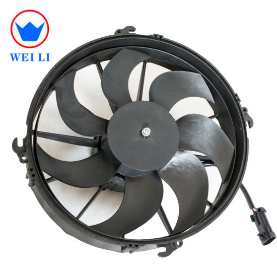 DC 12V/24V Bus Air Conditioner Electric Condenser Fan, Axial Fan