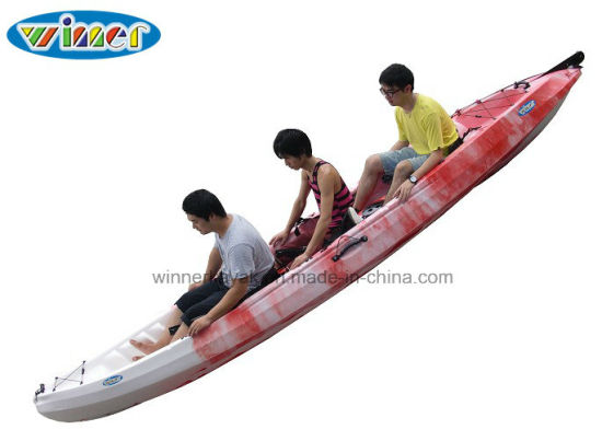 Sit on Top Plastic Fishing 3 Person Kayak Wholsale pictures & photos