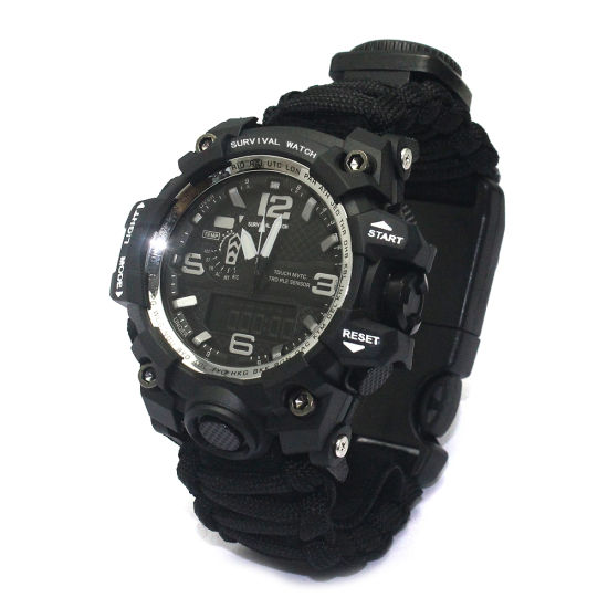 Amazon Multifunctional Rope Camping Adventure Paracord Rescue Bracelet Watch