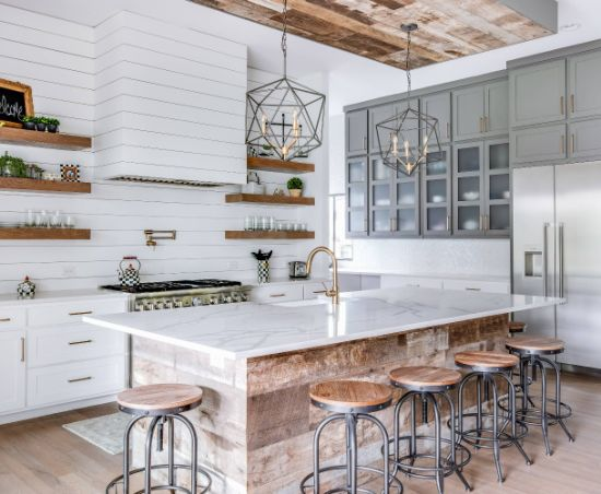 China Farmhouse Grey And White Wood Tones Shaker Joinery Cabinets Complete Kitchen Units China Kitchen Sink Cabinet Base Shaker Kitchen Cabinets Solid Wood