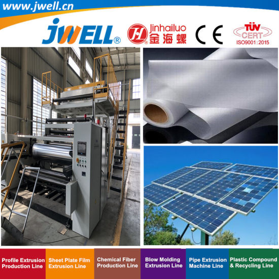 Jwell EVA Poe|PVB|Sgp Plastic High Speed and Steady Production of Casting Solar Film Recycling Agricultural Making Extrusion Machine
