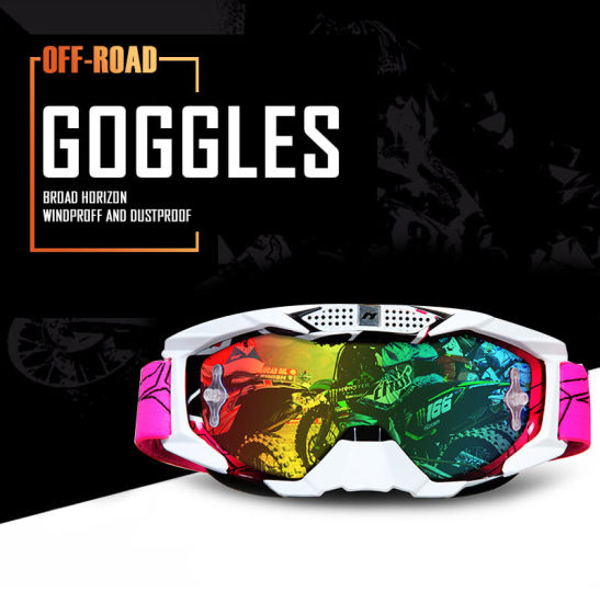 Motorcycle Goggles Moto Goggles Windproof Glasses Tear off Outdoor Goggles with Multiple Color Lens