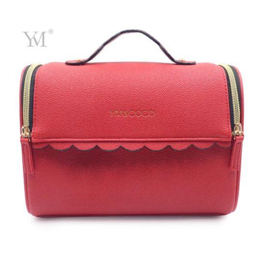 New Design Eco Friendly PVC Leather Organizer Makeup Bag with Handke