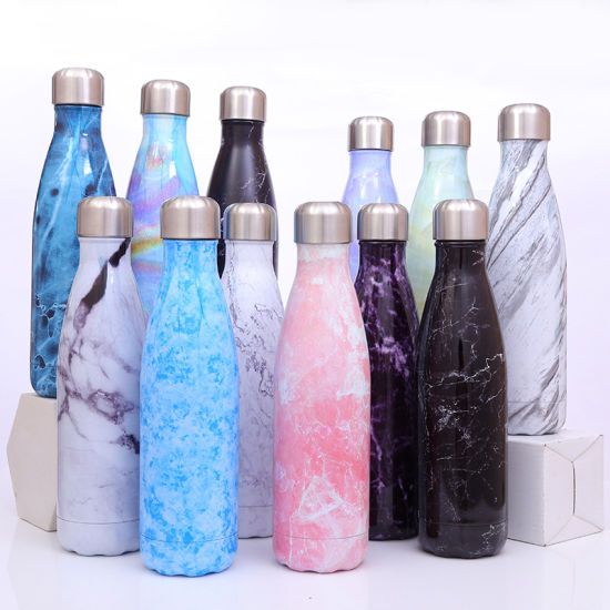 Double Wall Glass Vacuum Flask Bottle Stainless Steel Cola Shaped Glass Water Bottle