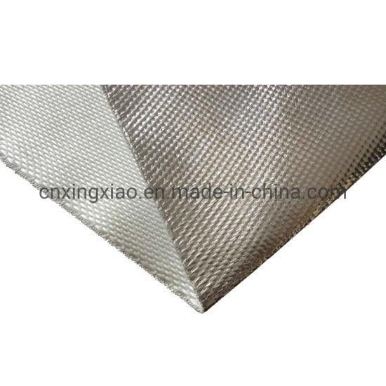550 Centigrade Aluminum Foil Coated Fiberglass Fabric 1000/1200/1500mm One Side Coated