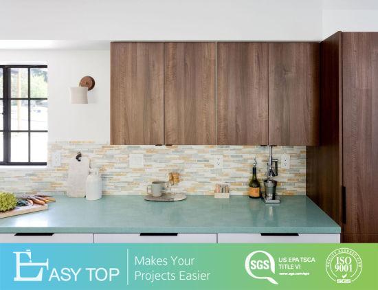 Wooden Veneer Wall Cabinet Door Modern MDF Kitchen Cabinet