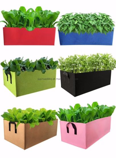 Wholesale All Kinds Color Good Design Non Woven Felt Geotextile Planting Grow Bags (jp-fb003)