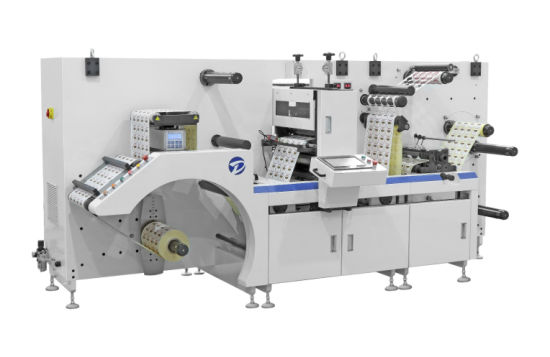 Dbgs-320 Iml Intermittent Sticker Cutter Semi Rotary Adhesive Paper Label Film Roll Slitting Sheeting/Sheet Automatic Die Cutting Machine Made in China