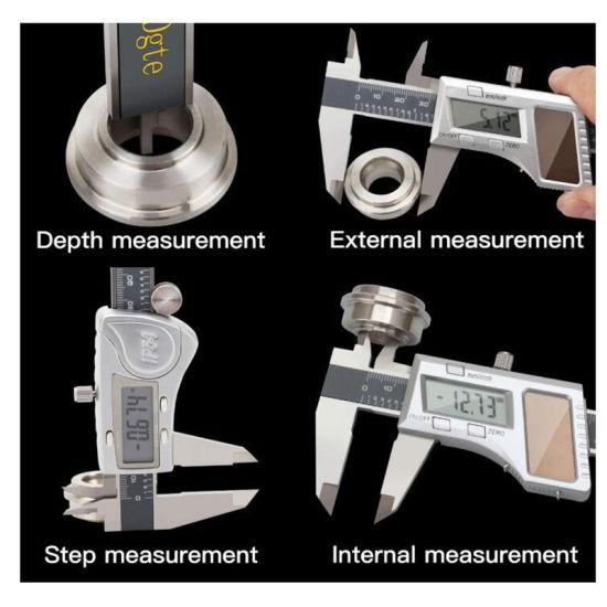 "Electronic Digital Caliper Vernier Scale LCD 150mm 6/"" Stainless Steel Ruler"